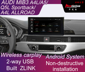 Stereo Car Multimedia Adapter for Audi MIB3 A5 S5 RS5 Allroad Android Navigation Built ZLINK