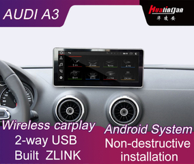 "10.25""Audi A3 MMI 3G Android Car GPS Navigation Multimedia Wireless CarPlay / Andrio Auto"